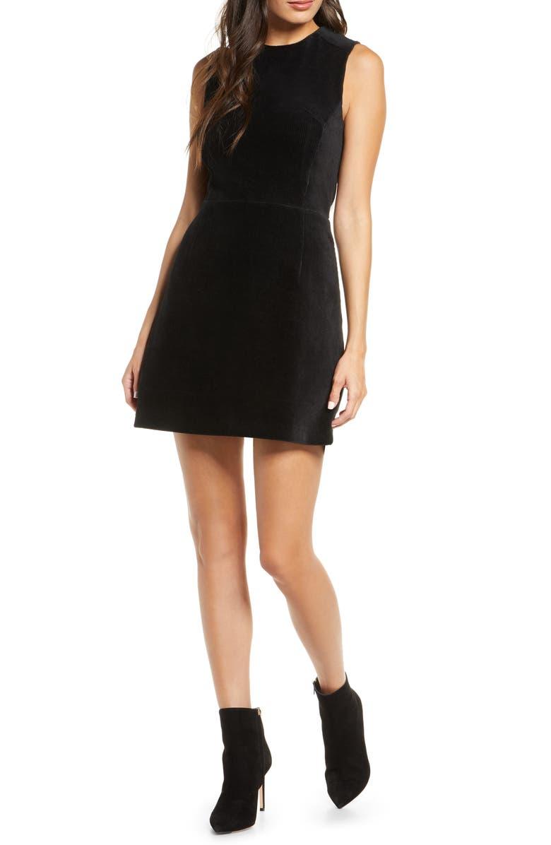 FRENCH CONNECTION Renata Corduroy Minidress, Main, color, BLACK