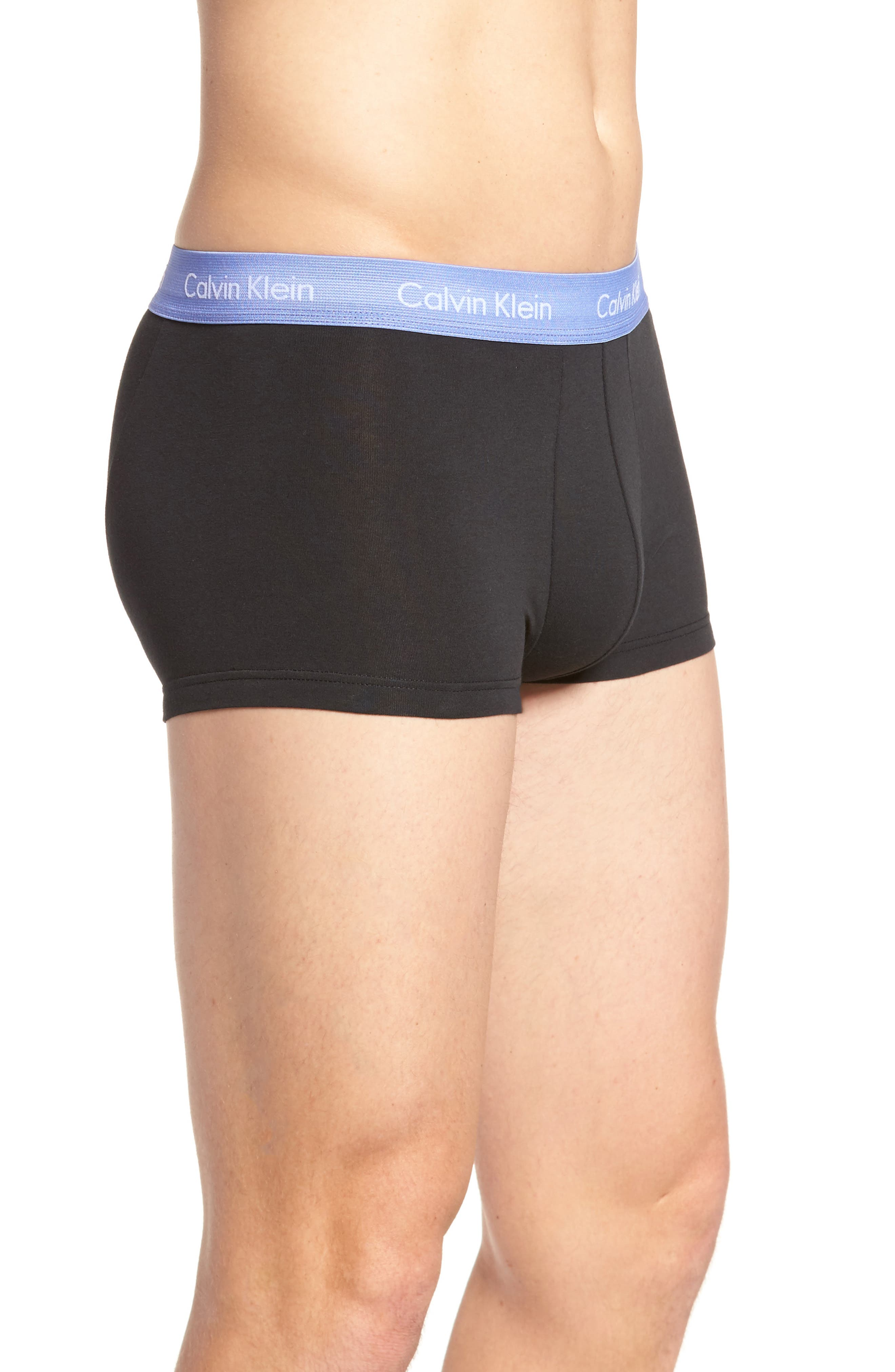 ,                             3-Pack Stretch Cotton Low Rise Trunks,                             Alternate thumbnail 58, color,                             015