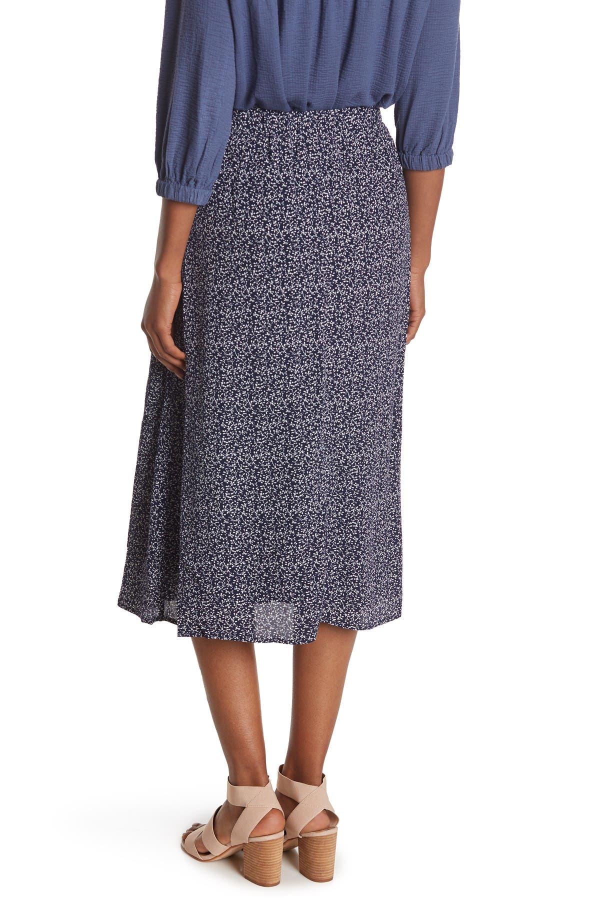 Melloday Ditsy Print Midi Skirt In Neutrals
