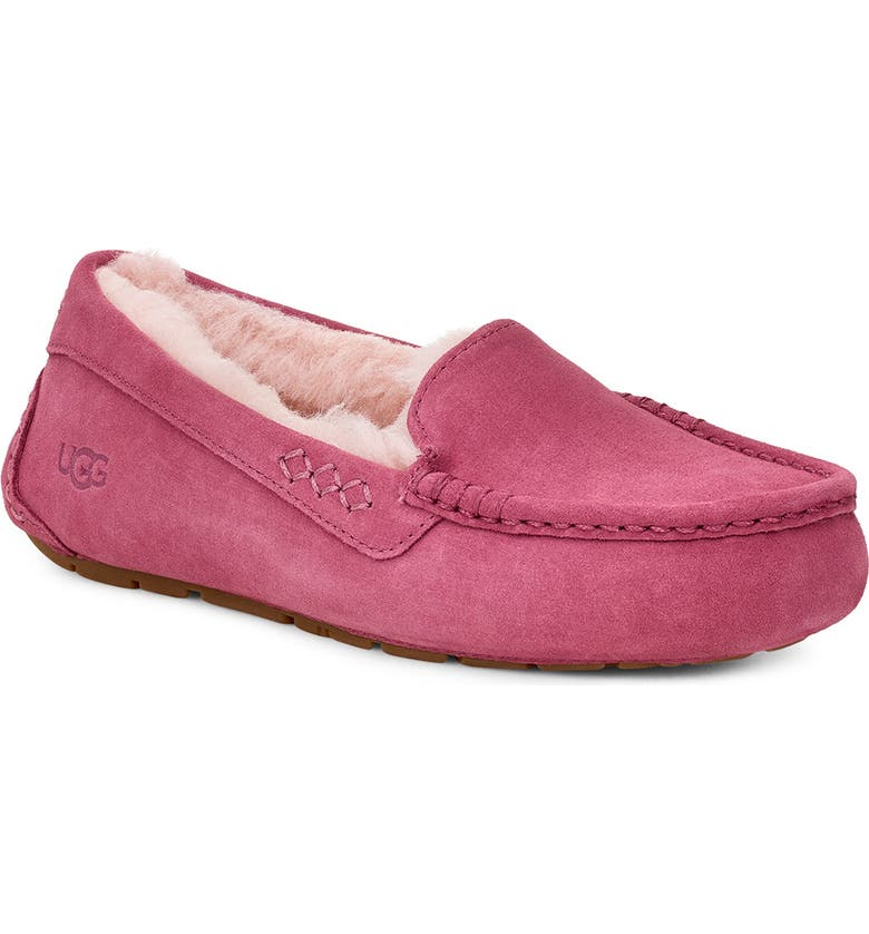 UGG<SUP>®</SUP> Ansley Water Resistant Slipper, Main, color, BOUGAINVILLEA