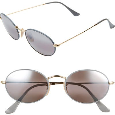 Ray-Ban 5m Oval Sunglasses - Gold Grey