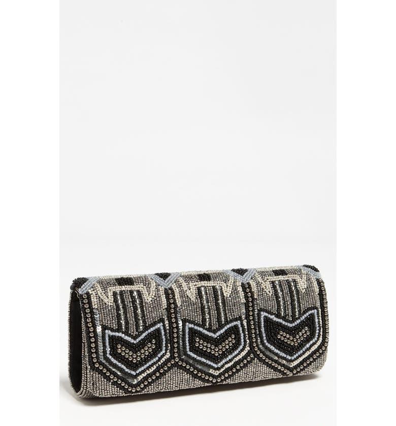 MOYNA 'Deco' Beaded Clutch, Main, color, 019