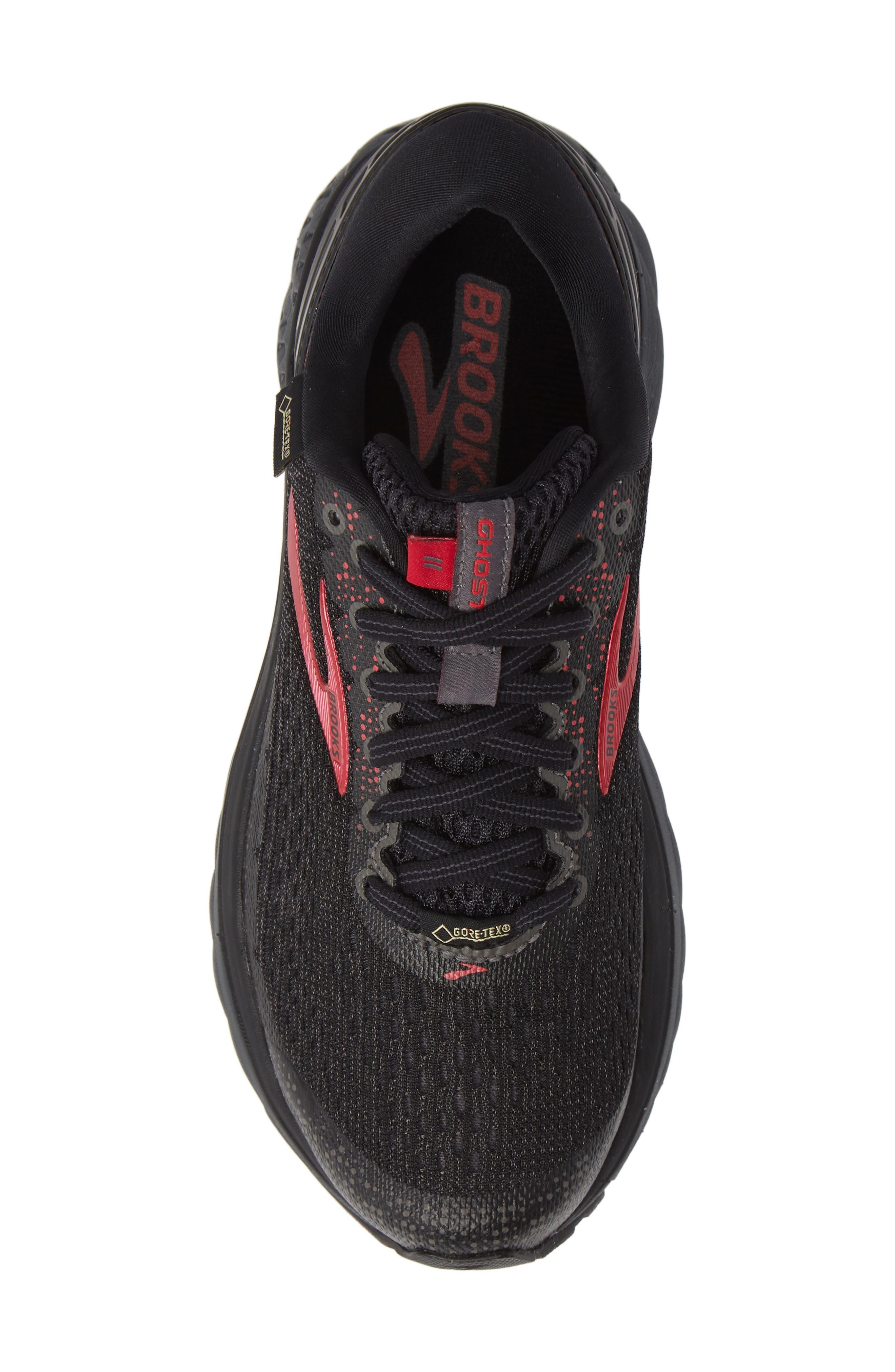 ,                             Ghost 11 GTX Gore-Tex<sup>®</sup> Waterproof Running Shoe,                             Alternate thumbnail 5, color,                             BLACK/ PINK/ EBONY