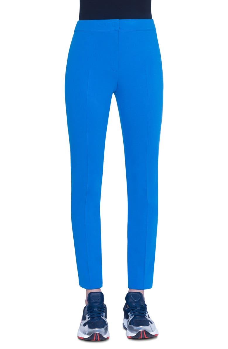 AKRIS PUNTO Mara Slim Stretch Knit Pants, Main, color, 400
