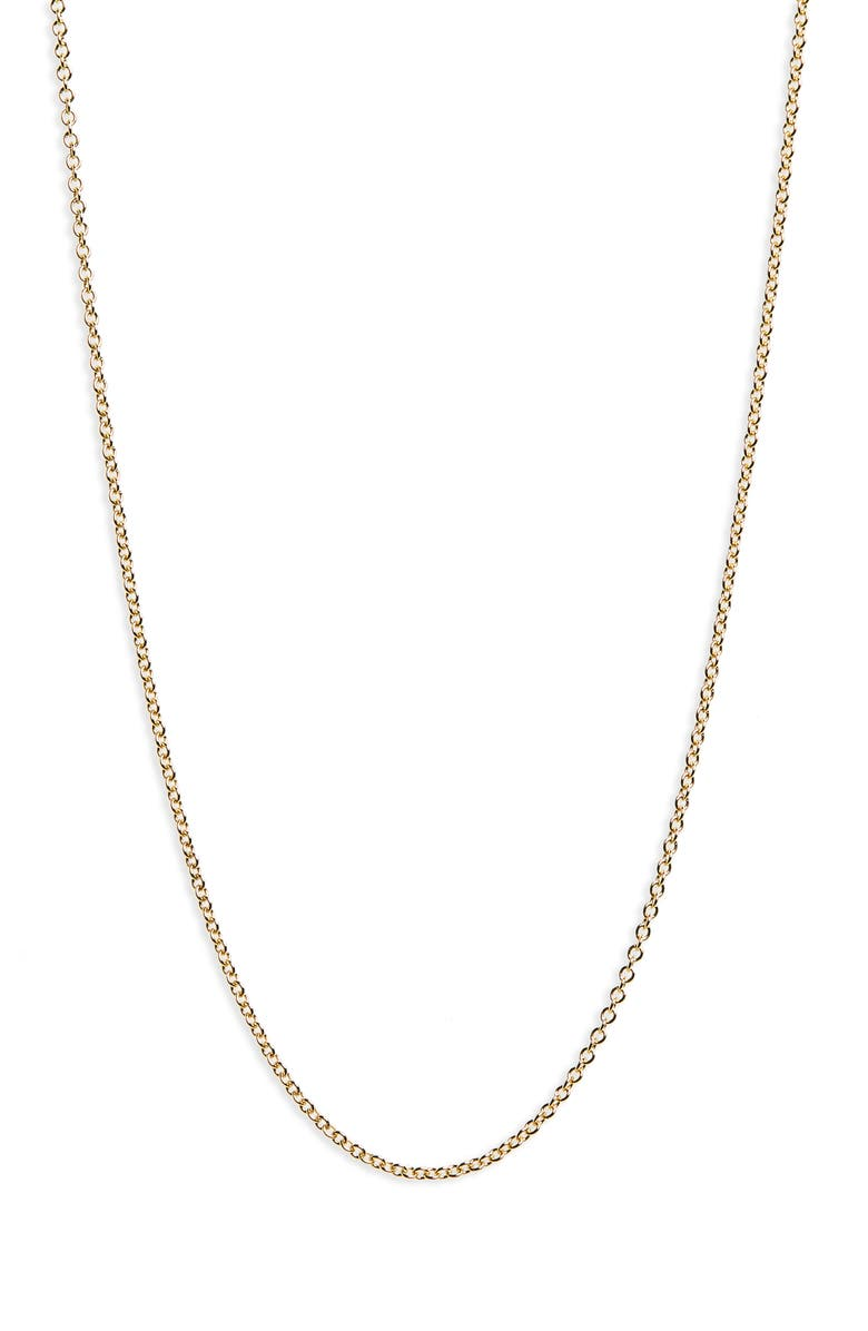 BONY LEVY 14K Gold Rolo Chain Necklace, Main, color, YELLOW GOLD