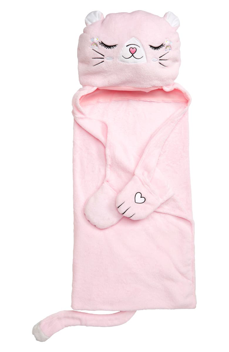 UNDER ONE SKY Cat Hooded Blanket, Main, color, 650