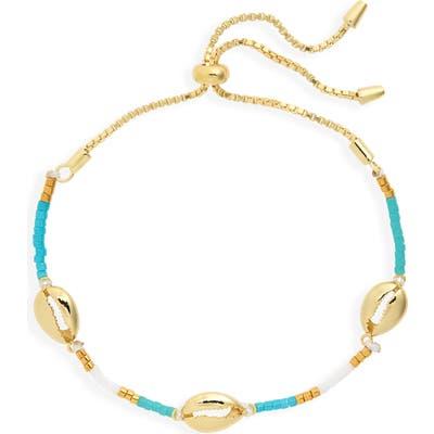 Argento Vivo Seashell Charm Slider Bracelet