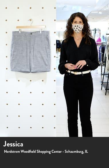 Textured Flat Front Chino Shorts, sales video thumbnail