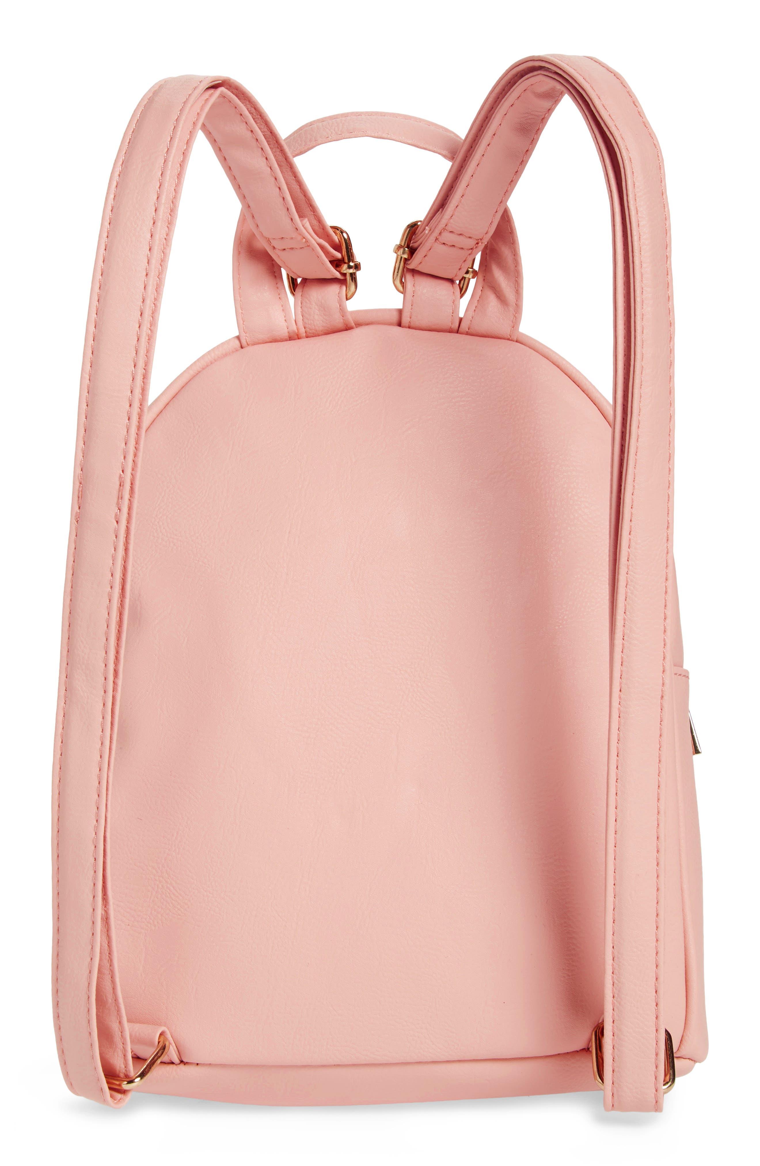 ,                             Mini Faux Fur Flamingo Backpack,                             Alternate thumbnail 2, color,                             PINK