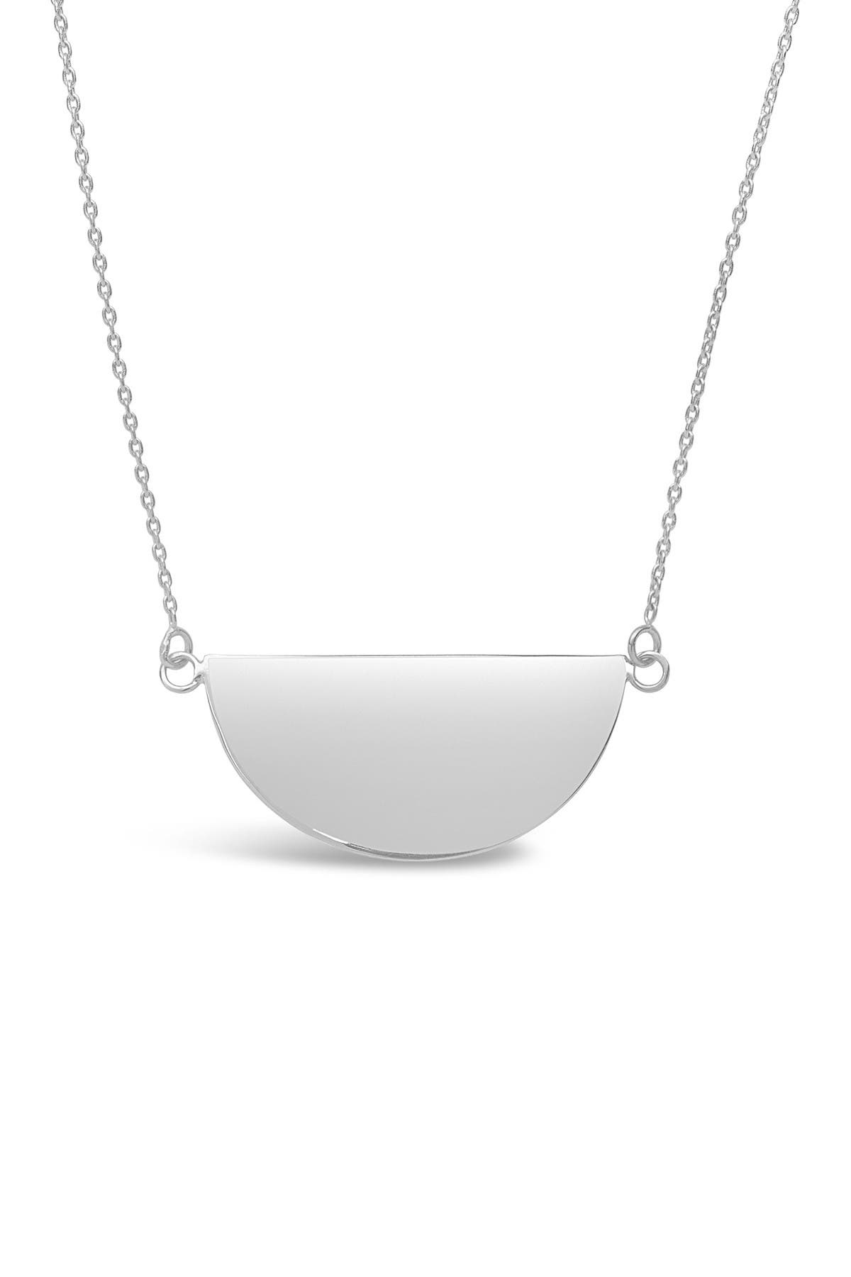 Sterling Forever Sterling Silver Half Circle Pendant Necklace