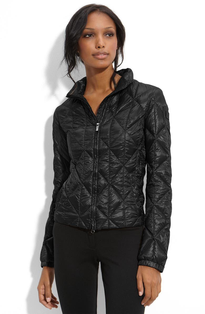 ADD DOWN Short Quilted Jacket, Main, color, Black