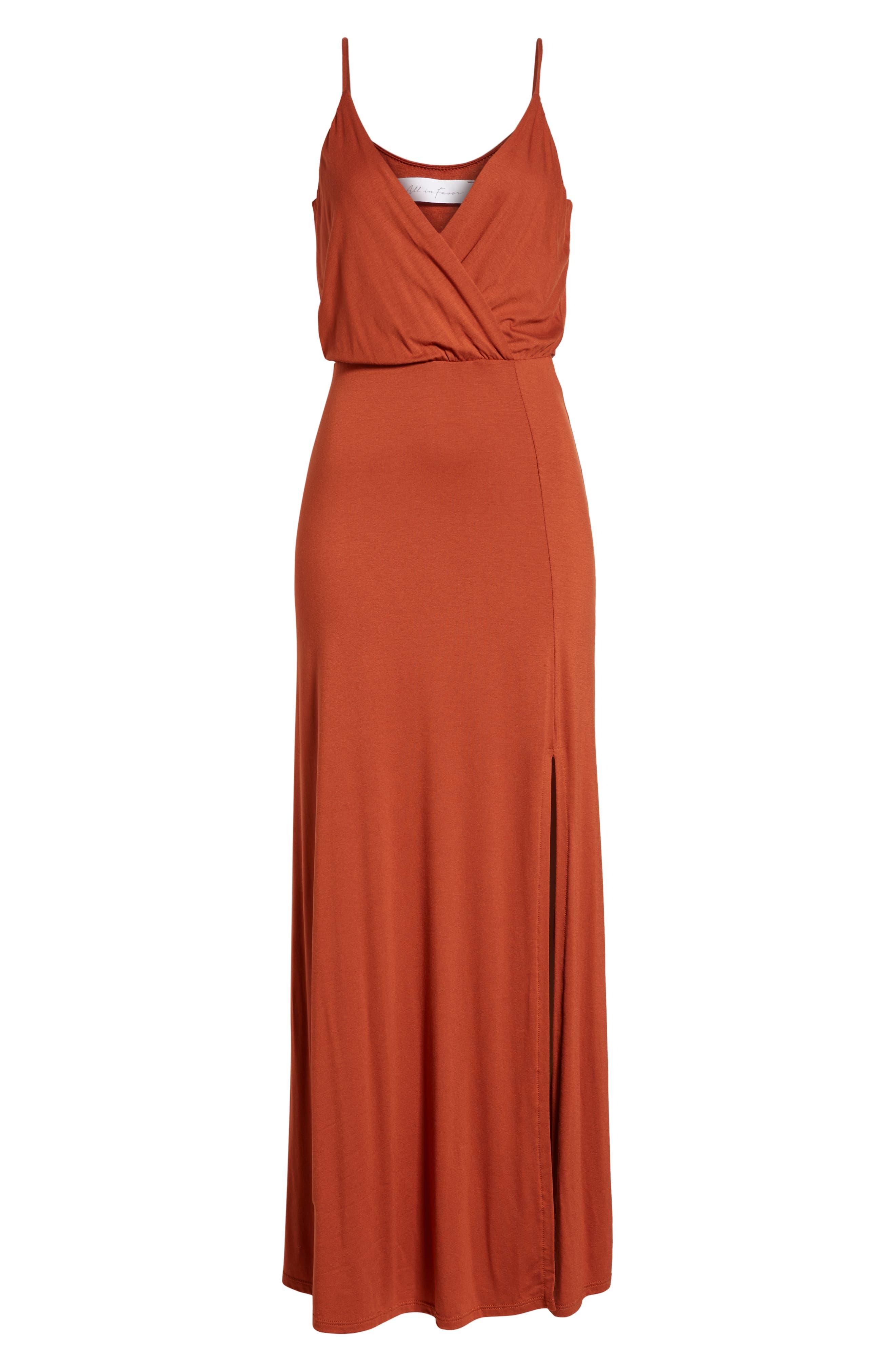 ,                             Surplice Neck Knit Maxi Dress,                             Alternate thumbnail 25, color,                             800