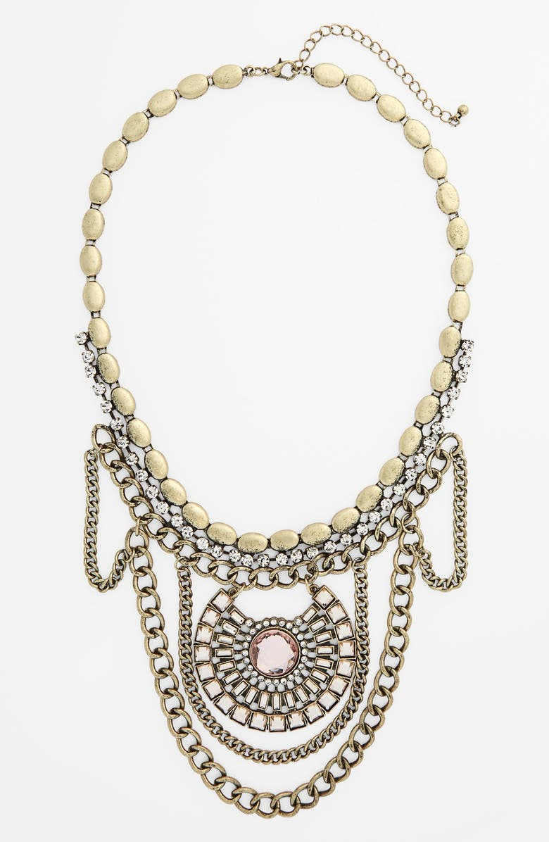 BP. Crystal Statement Necklace, Main, color, 650