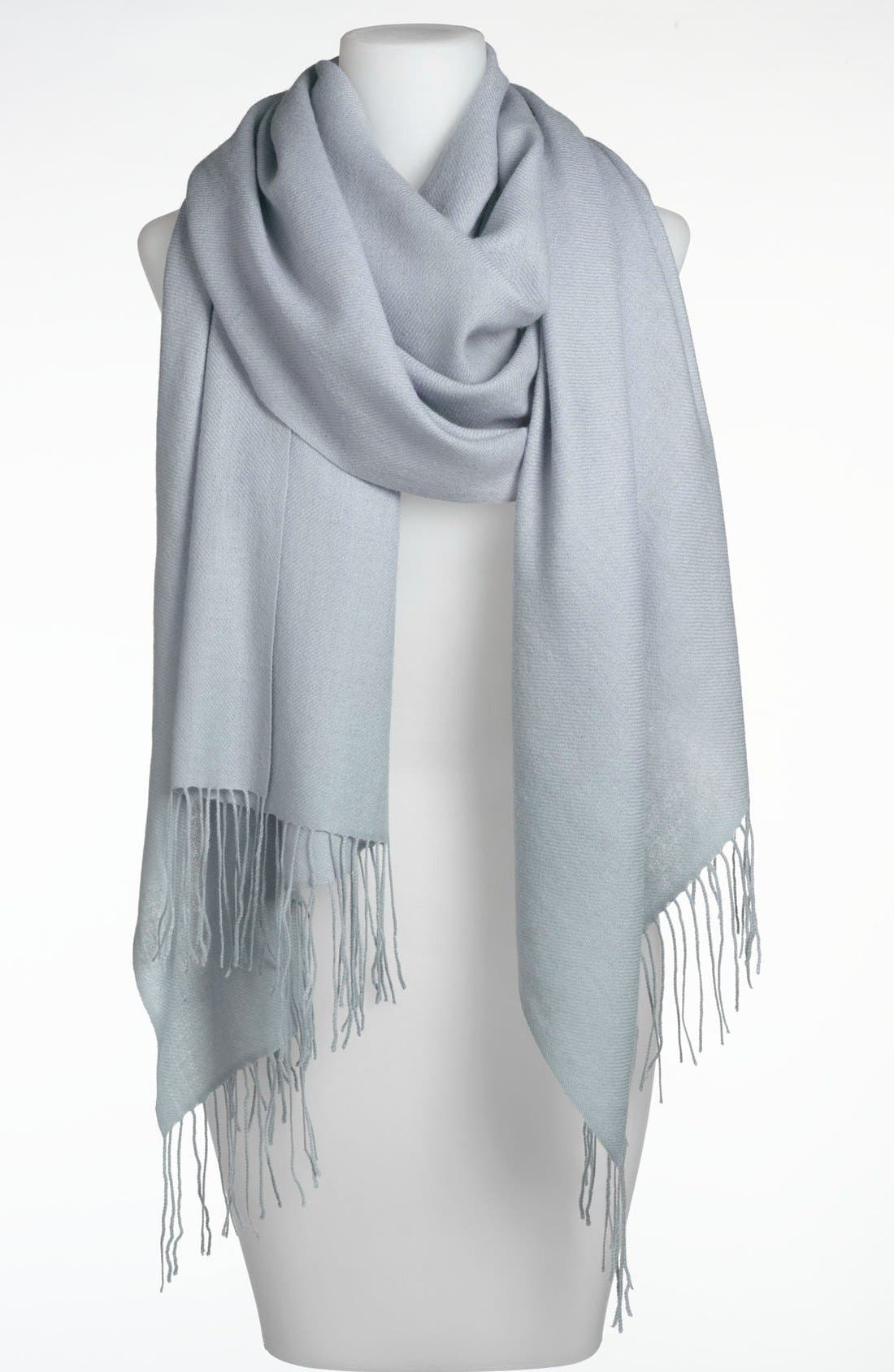 ,                             Tissue Weight Wool & Cashmere Wrap,                             Main thumbnail 108, color,                             473