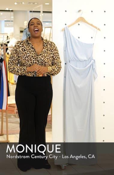 One-Shoulder Wrap Front Evening Dress, sales video thumbnail