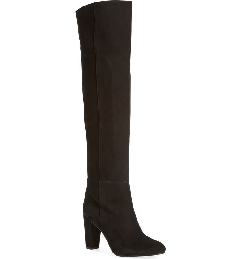 HALOGEN<SUP>®</SUP> 'Noble' Over the Knee Boot, Main, color, 001