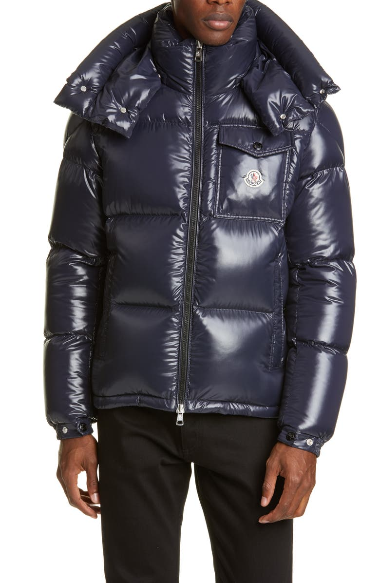 MONCLER Montebeliard Down Puffer Jacket, Main, color, NAVY
