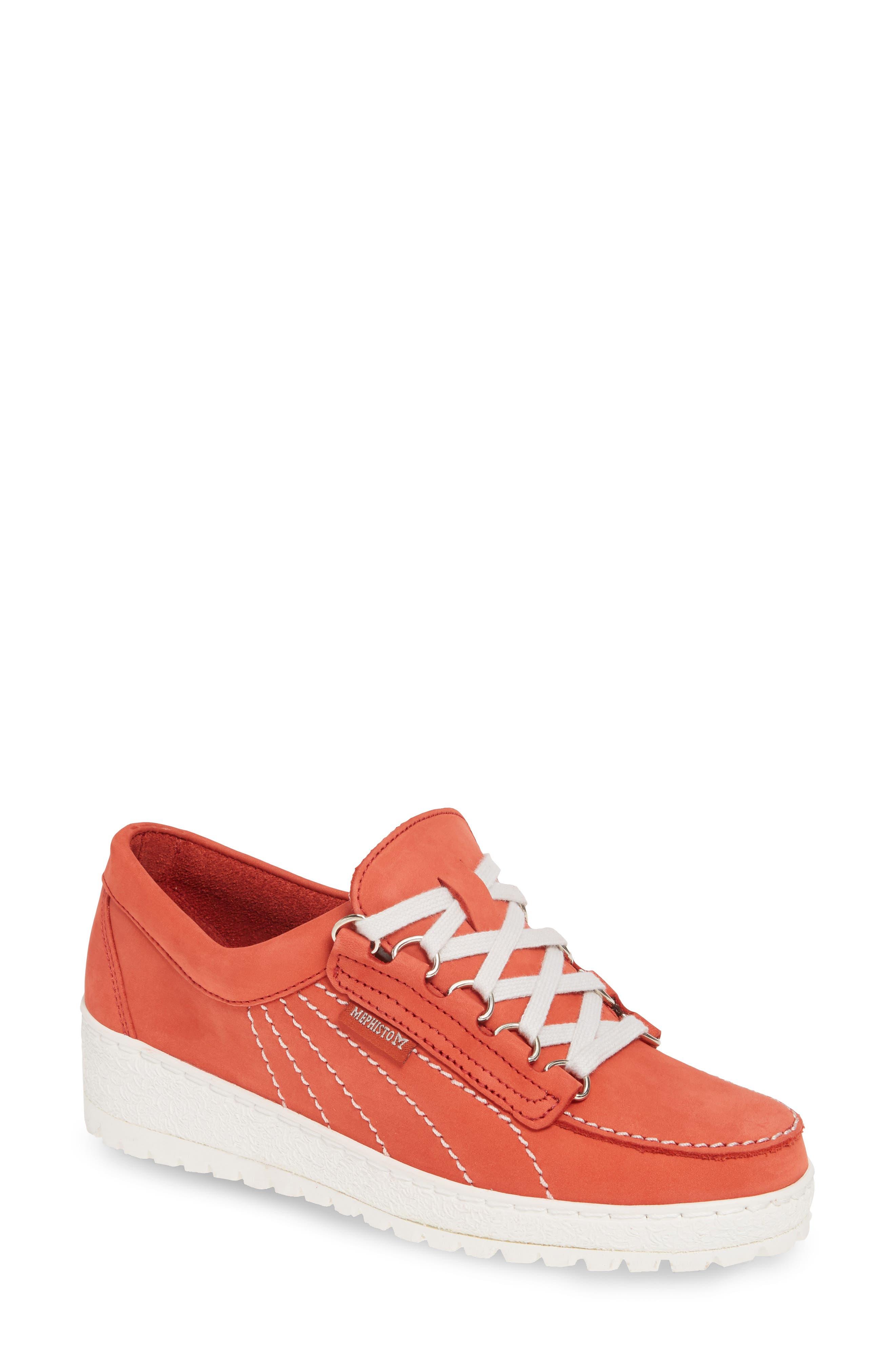 Mephisto Lady Low Top Sneaker, Orange