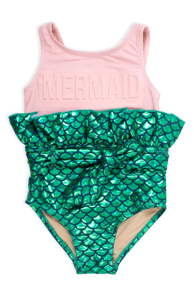 SHADE CRITTERS Mermaid One-Piece Swimsuit, Main, color, 650