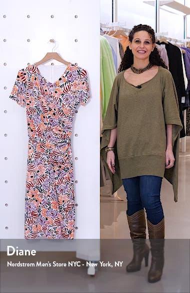 Erykah Print Faux Wrap Sheath Dress, sales video thumbnail