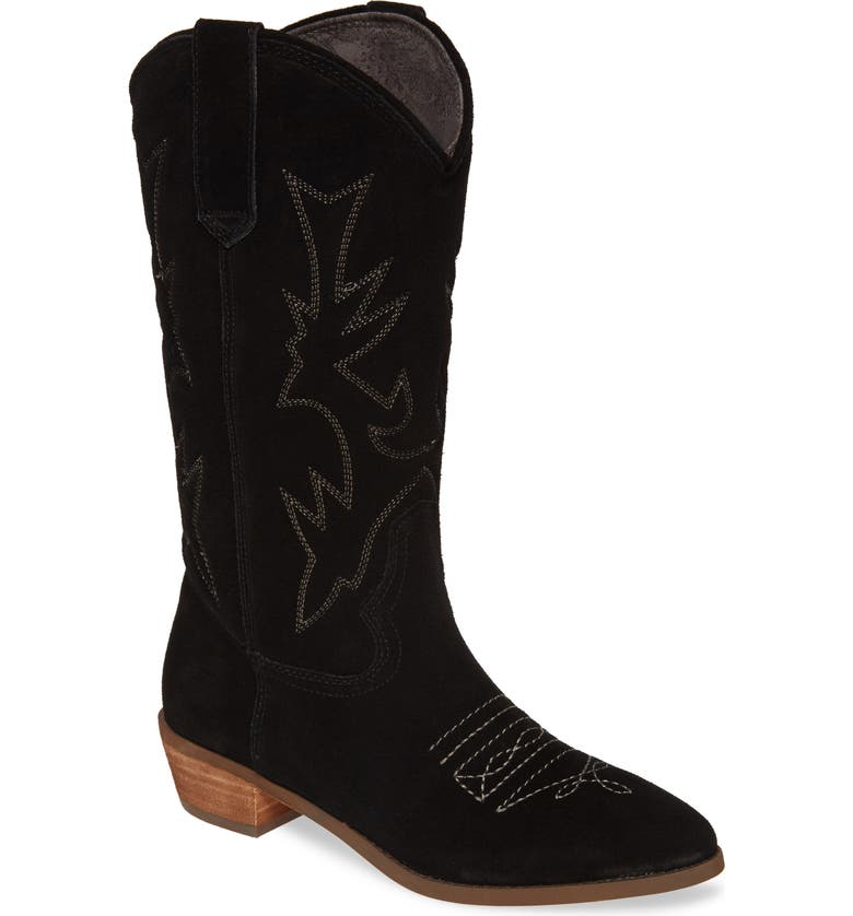 BAND OF GYPSIES Cimarron Western Boot, Main, color, BLACK SUEDE