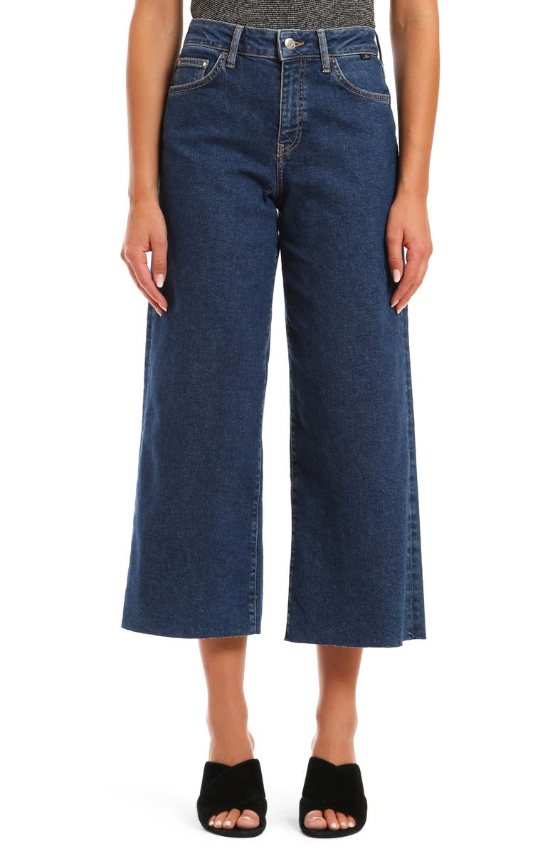 MAVI JEANS Bodrum High Waist Crop Wide Leg Jeans, Main, color, 401