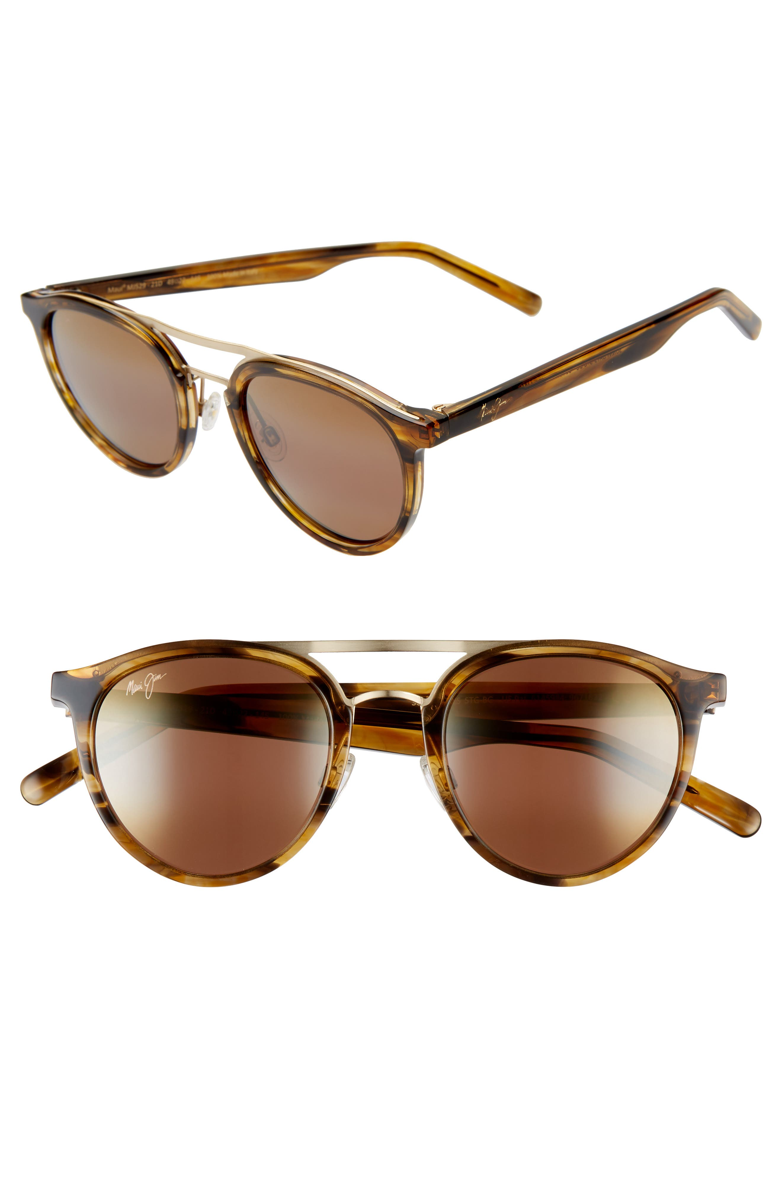 Sunny Days 49mm Polarizedplus2 Round Sunglasses