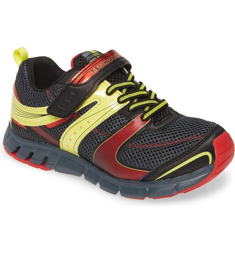 TSUKIHOSHI Velocity Washable Sneaker, Main, color, BLACK/ GRAY