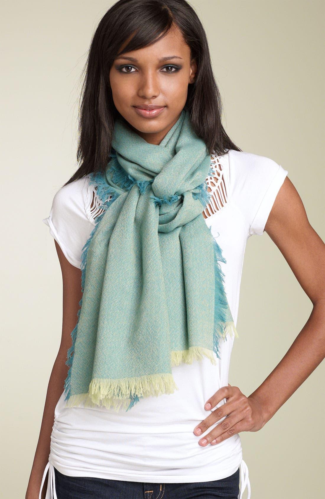 ,                             'Eyelash' Colorblock Cashmere Wrap,                             Main thumbnail 48, color,                             442