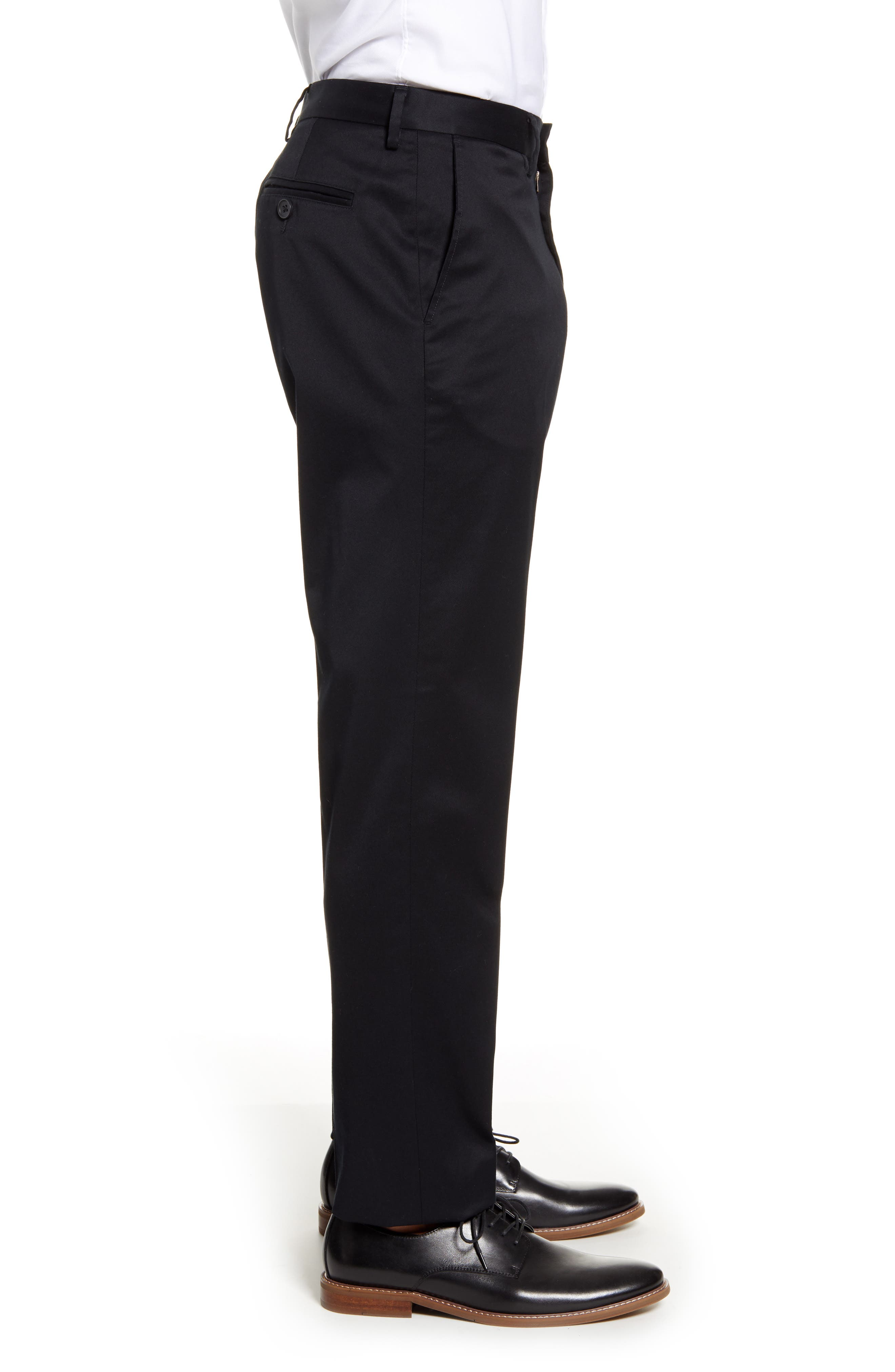 ,                             Athletic Fit Non-Iron Chinos,                             Alternate thumbnail 4, color,                             BLACK CAVIAR