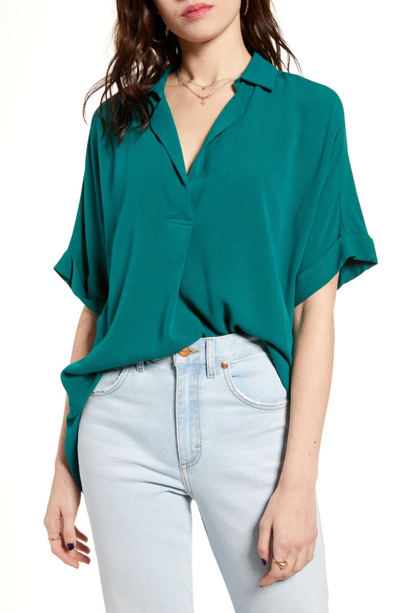 ALL IN FAVOR Button Back Top, Main, color, GREEN