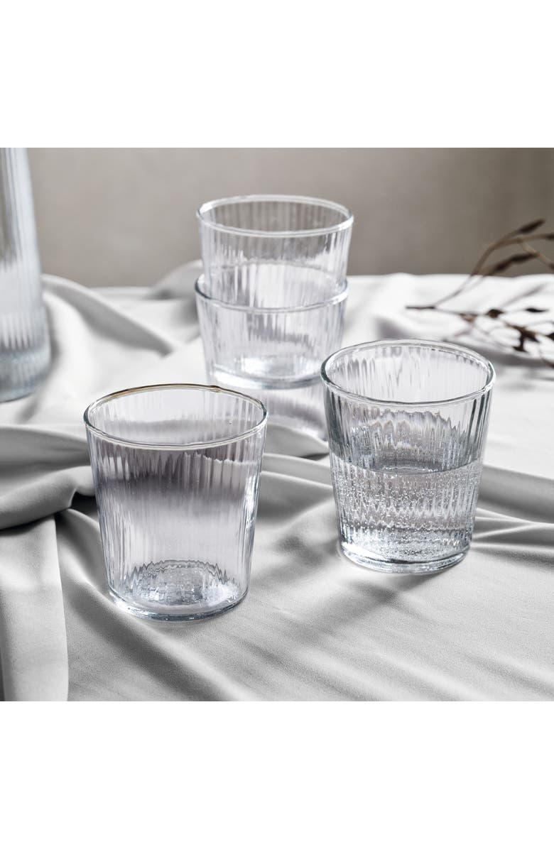 THE WHITE COMPANY Milford Set of 4 Glass Tumblers, Main, color, CLEAR