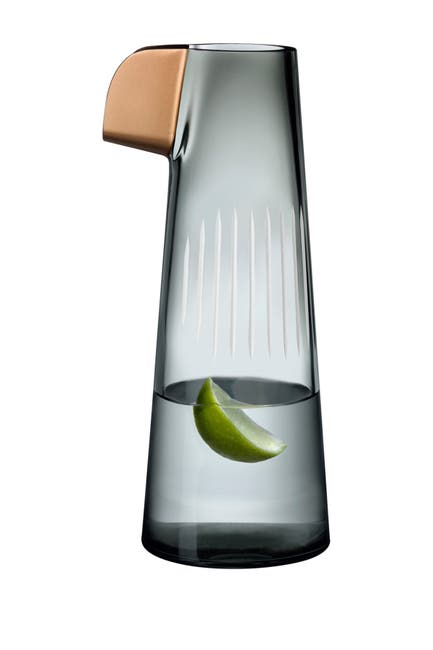 Image of Nude Glass Parrot Water Carafe - Smoke