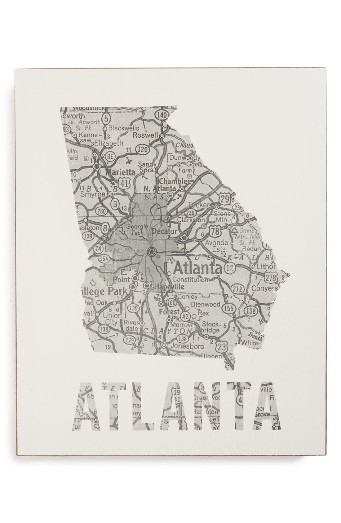 ,                             City Map Wall Art,                             Main thumbnail 2, color,                             021