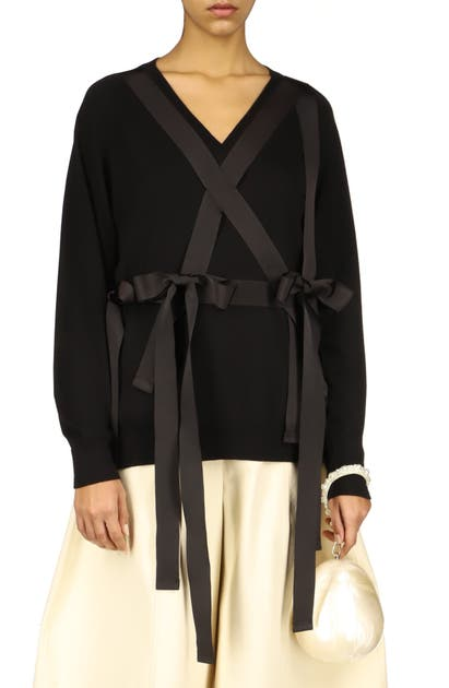 Simone Rocha Wools GROSGRAIN HARNESS WOOL SWEATER