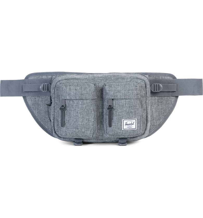 HERSCHEL SUPPLY CO. Eighteen Hip Pack, Main, color, RAVEN XHATCH