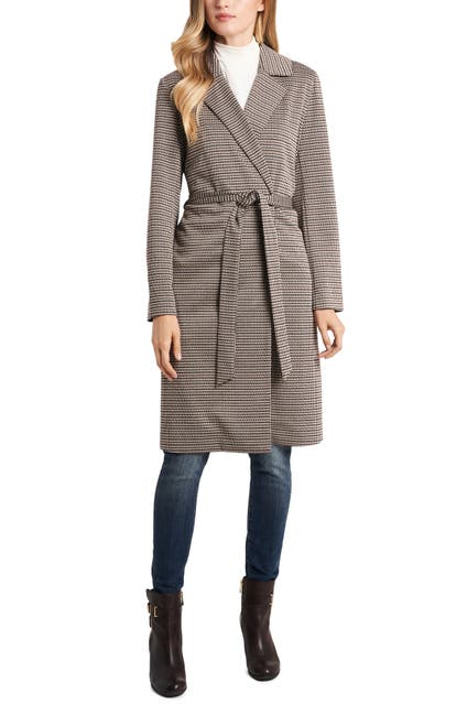 Image of Vince Camuto Heritage Notch Collar Belted Coat