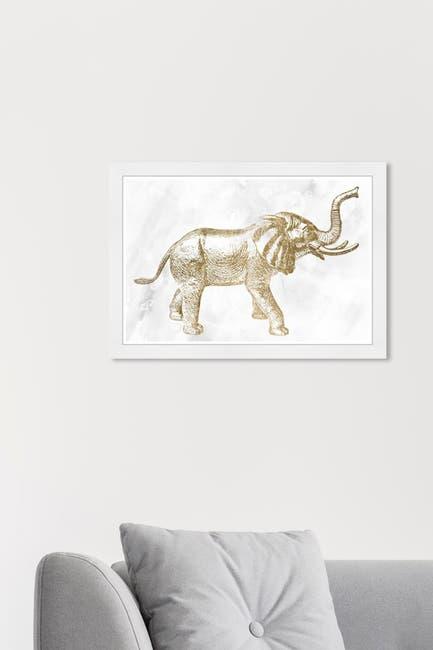 Image of Wynwood Studio Elephant Gold Animals Framed Wall Art