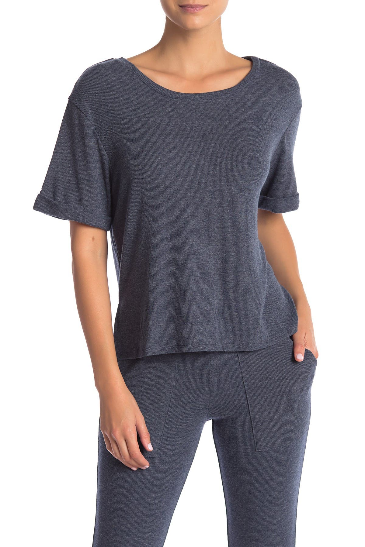 Image of Honeydew Intimates Evie Ribbed Knit Lounge T-Shirt