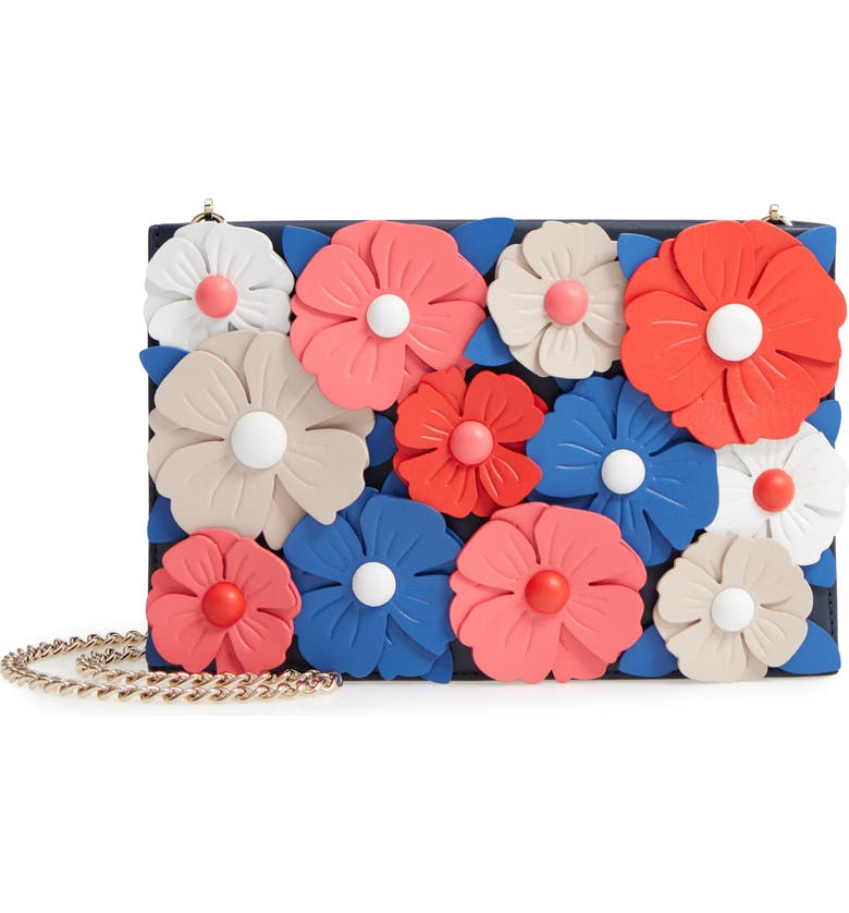 KATE SPADE NEW YORK madison daisy lane - sima leather crossbody bag, Main, color, 400