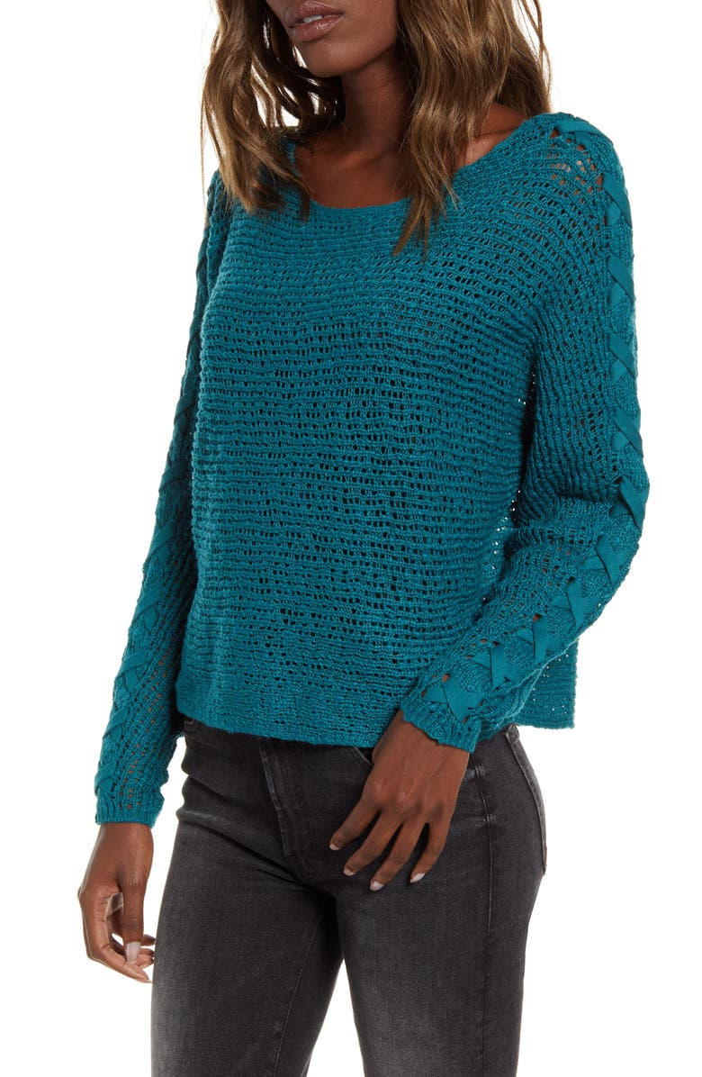 BILLABONG Chill Out Sweater, Main, color, LAGOON