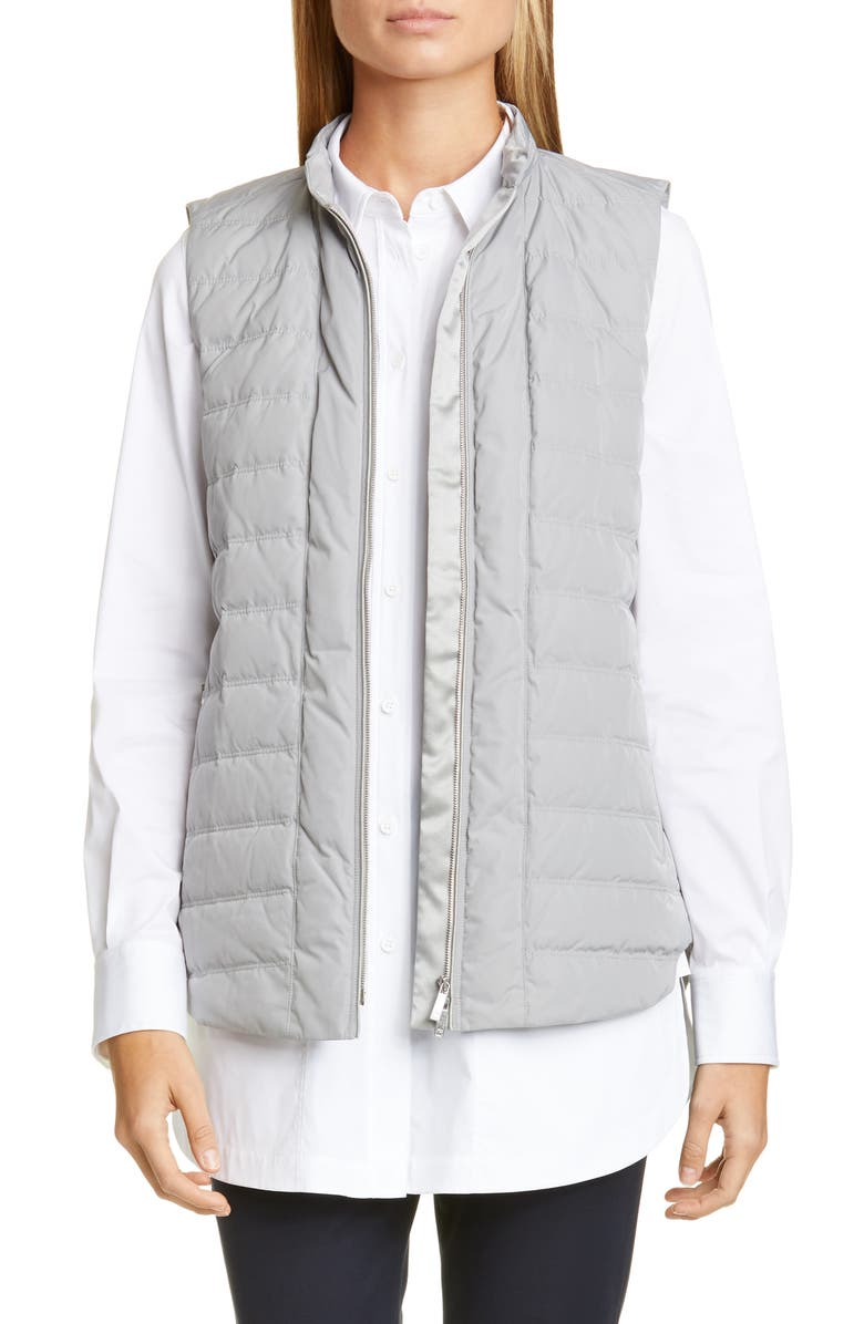 LAFAYETTE 148 NEW YORK Brenner Down Vest, Main, color, GREYSTONE