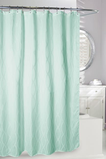 Image of Moda At Home Infinity Shower Curtain - Green Sea