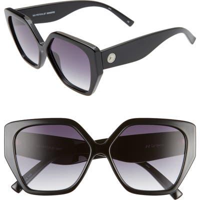 Le Specs So Fetch 5m Gradient Square Cat Eye Sunglasses - Black/ Smoke