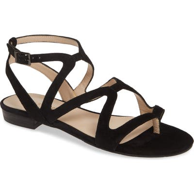 Pelle Moda Baron Strappy Sandal- Black