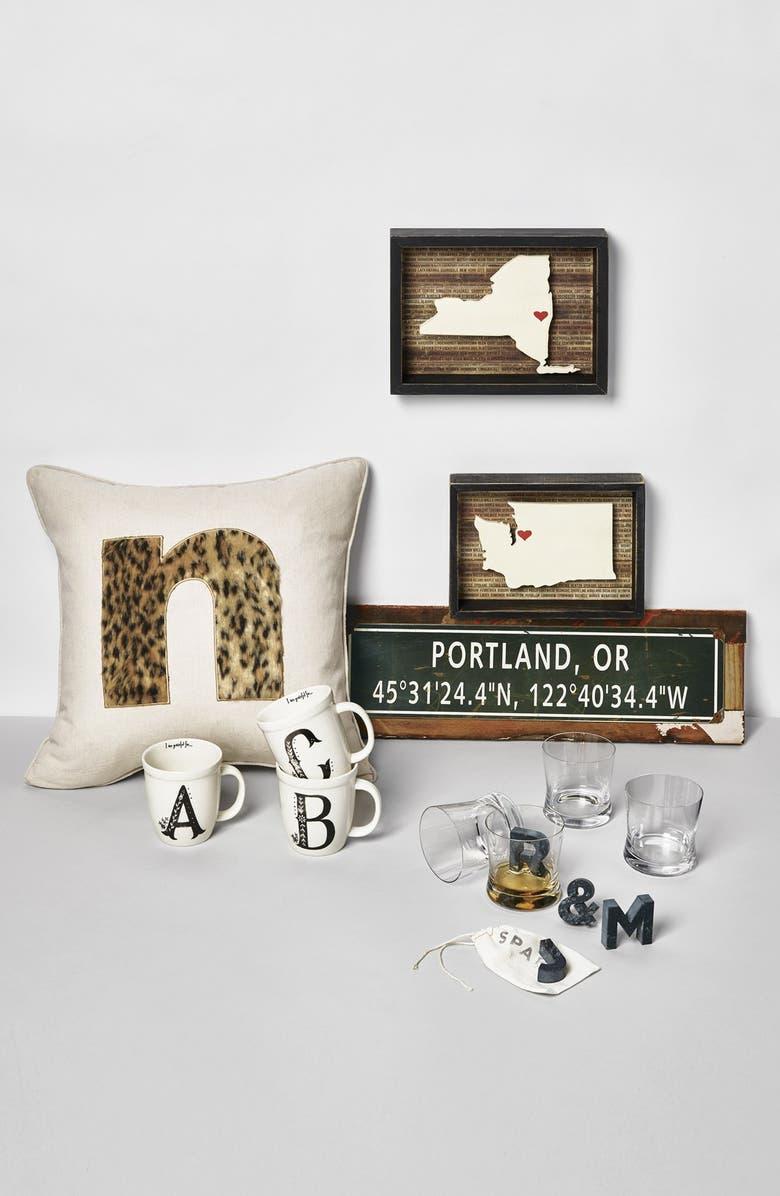 NATURAL LIFE 'I Am Grateful For' Monogram Coffee Mug, Main, color, 900