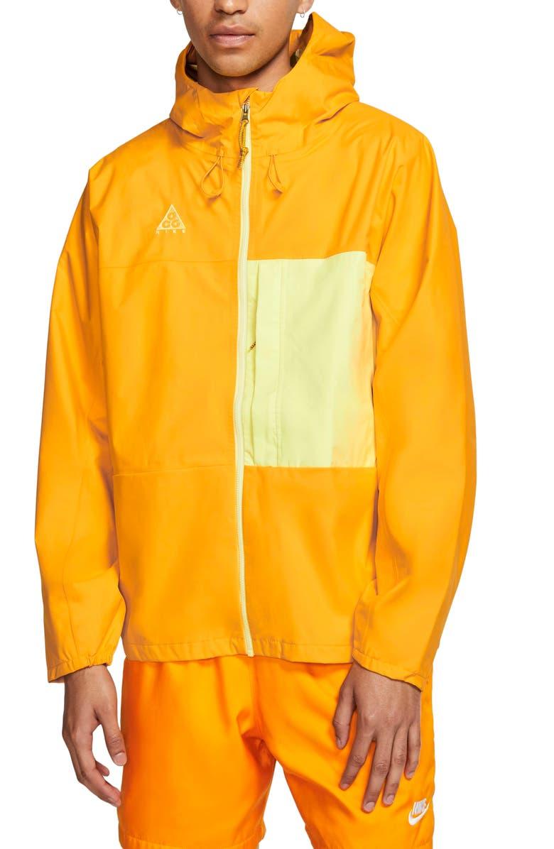 NIKE ACG Men's Packable Jacket, Main, color, UNIVERSITY GOLD/ GREEN