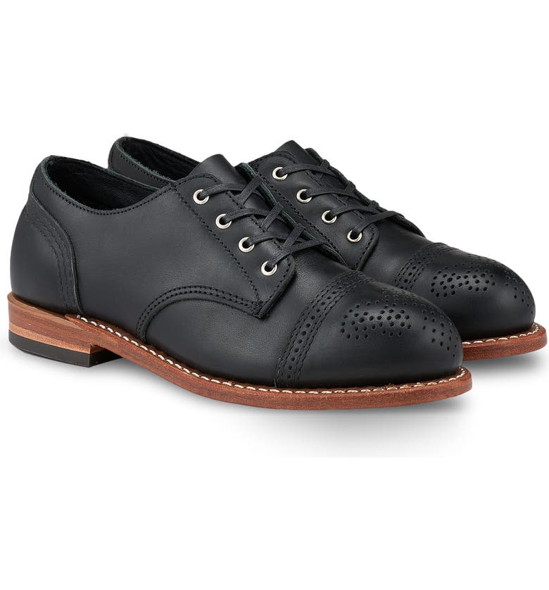 RED WING Hazel Oxford, Main, color, BLACK BOUNDARY LEATHER