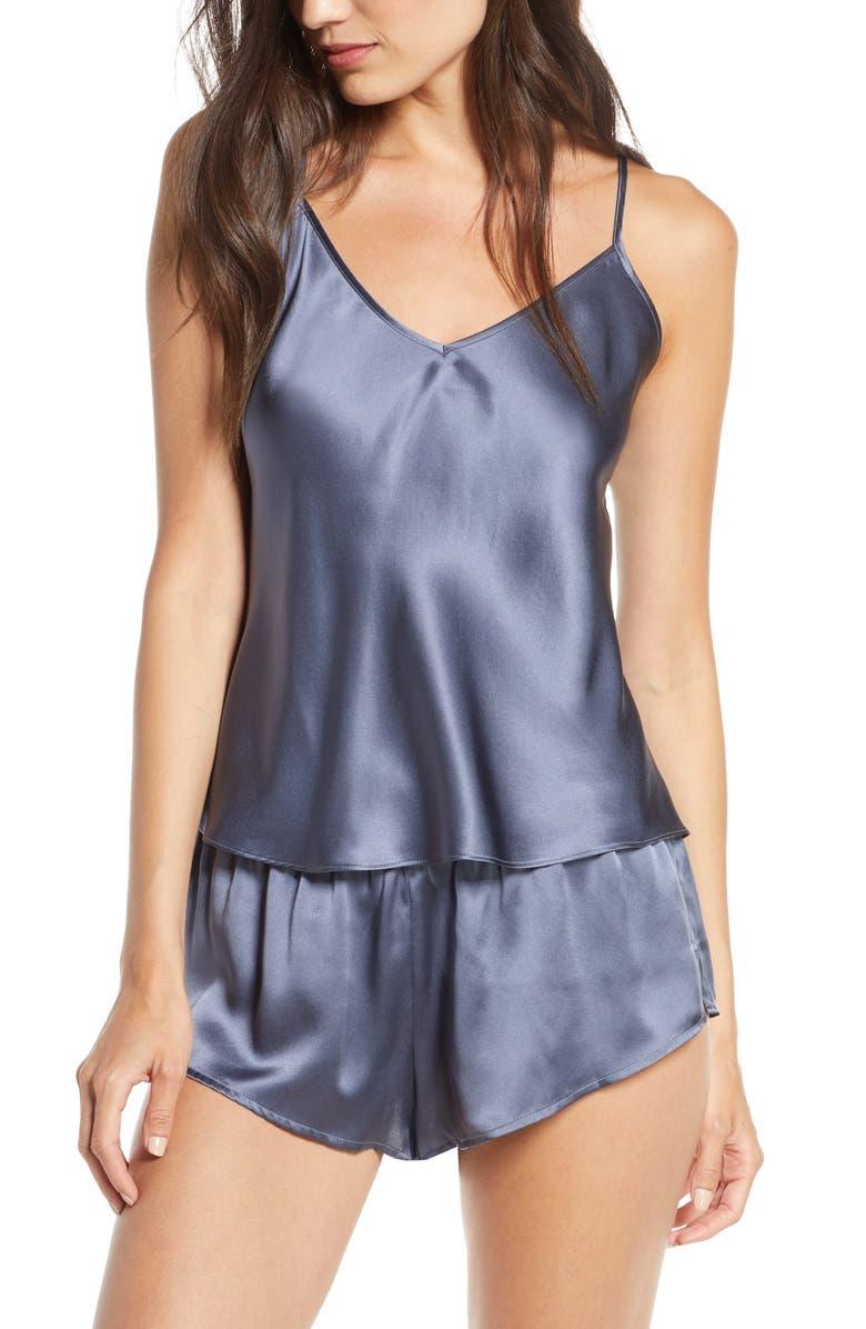 THISTLE & SPIRE Silk Shorts, Main, color, GRAPHITE