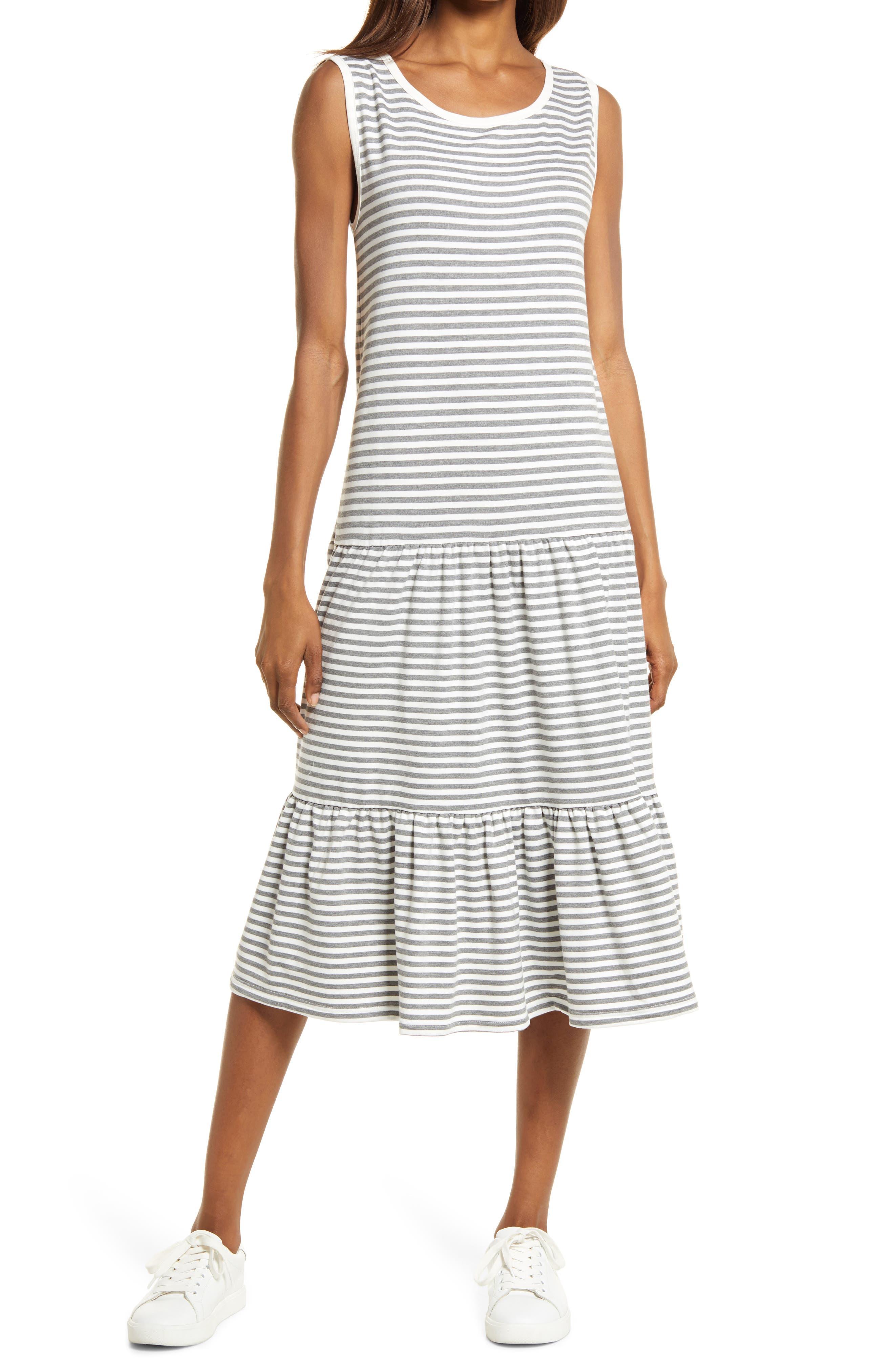 Longest Weekend Sleeveless Stripe Dress